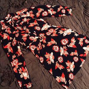 Shoshanna Allen Floral Silk Tie-Neck Dress